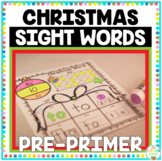Christmas Sight Words Pre-Primer Print and Go