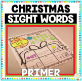 Christmas Sight Words Primer Print and Go