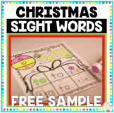 Christmas Sight Words Print and Go {Freebie}