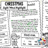 Christmas Sight Words Worksheet Read and Highlight