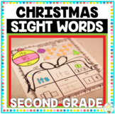 Christmas Sight Words Second Grade Print and Go