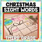 Christmas Sight Words Third Grade Print and Go