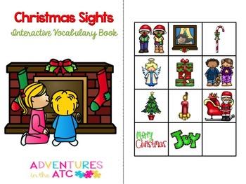 Christmas Sights Interactive Vocabulary Book