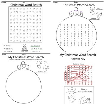 Christmas Sign Language Word Search Game