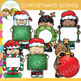 Blanks Signs for Christmas Clip Art