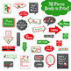 Christmas Signs Photo Booth Props and Decorations - Printable