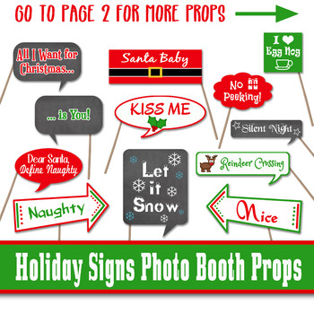 photo relating to Printable Christmas Signs titled Xmas Indications Image Booth Props and Decorations - Printable