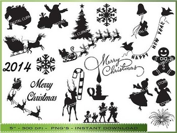 Christmas Silhouette Clipart