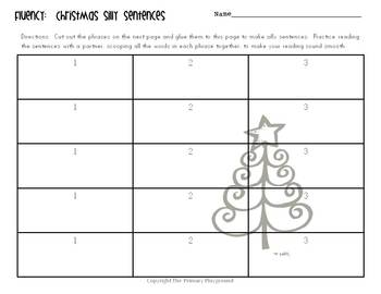 Christmas Silly Sentences {Fluency Practice}