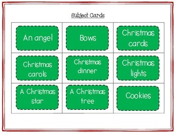 Christmas Word Work - Silly Sentences for Fluent Readers
