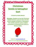 Christmas Simile & Metaphor Sort