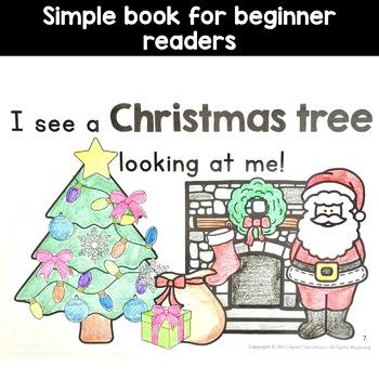 Christmas Simple Emergent Reader for Kindergarten