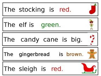 Christmas Simple Sentences