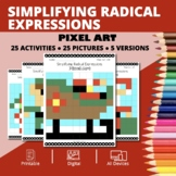 Christmas: Simplifying Radical Expressions Pixel Art Myste
