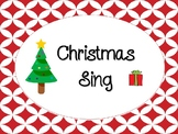 Christmas Sing template (editable)