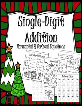 Christmas Single-Digit Addition