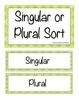 Christmas Singular and Plural Noun Sort