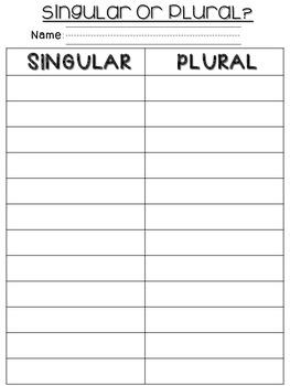 Christmas Singular or Plural Noun Sort