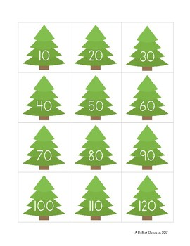 Christmas Skip-Count by 10s