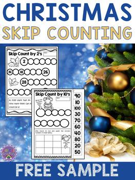 Christmas Skip Counting {FREE}