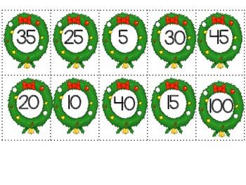 Christmas Skip Counting 2's, 5's, and 10's