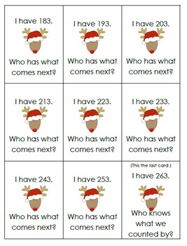 Christmas Skip Counting Bundle