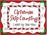 Christmas Skip Counting- Common Core Math Pactice Worksheets P