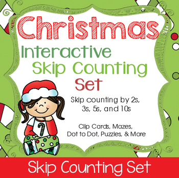 Christmas Skip Counting Interactive Set