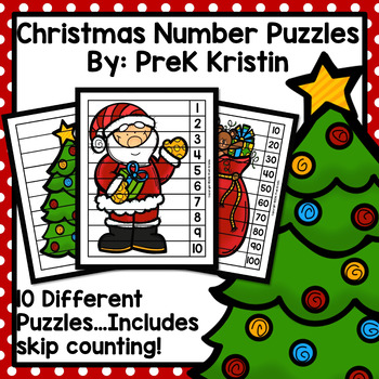 Christmas Skip Counting Number Puzzles