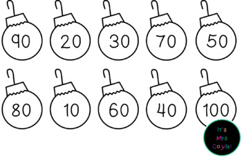 Christmas Skip Counting Ornaments