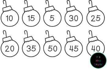 Christmas Skip Counting Ornaments