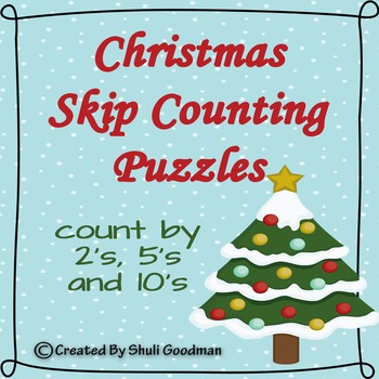 Christmas Skip Counting Puzzles 2's, 5's and 10's