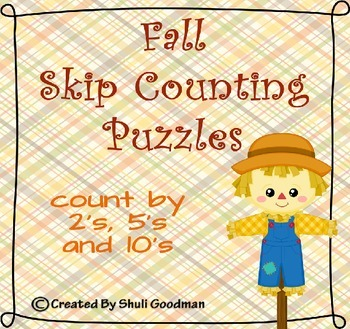 Fall Skip Counting Puzzles 2's, 5's and 10's