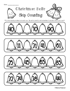 Christmas Skip Counting and Number Sequencing Patterns