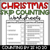 Christmas Skip Counting by 2s to 20 Gingerbread Man Math Worksheets