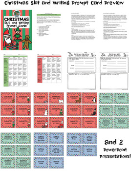 Christmas Skit and Writing Prompt Cards (Grades 4-8)
