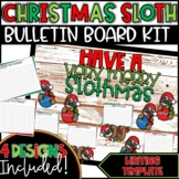 Christmas Sloth Bulletin Board Kit