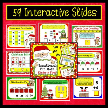 SMARTboard Christmas Math: Counting, Addition & Word Problems