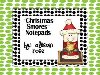 Christmas S'mores-Notepads