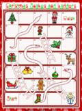 Christmas Snakes and Ladders Worksheet | Free/Freebie