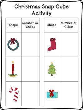 Christmas Snap Cube Activity