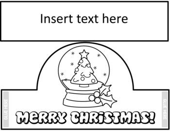 Christmas Snow Globe Crowns - Editable