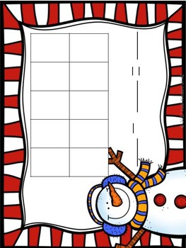 Christmas Snowball Smash SUBTRACTION Play Dough Mat Center