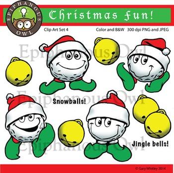 Christmas Snowballs Clip Art Set 4