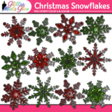 Christmas Snowflake Clip Art: Winter Weather Graphics {Glitter Meets Glue}