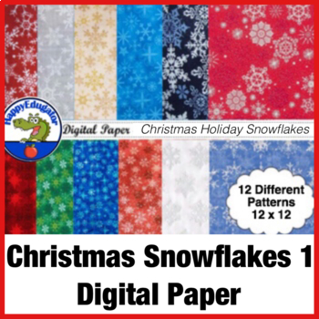 Christmas Snowflake Fabric Photo Backgrounds - Digital Paper