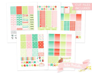 Christmas Snowflakes Printable Weekly Planner kit Stickers