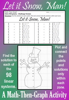 Let it Snow, Man! - Challenge Version - Solve 98 Systems - Math-Then-Graph