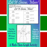 Let it Snow, Man! - Solving 30 Systems - A Math-Then-Graph