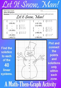 Let it Snow, Man! - Solving 40 Systems - A Math-Then-Graph